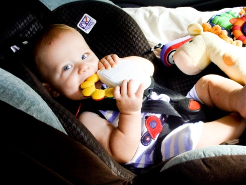 Cruz in Carseat