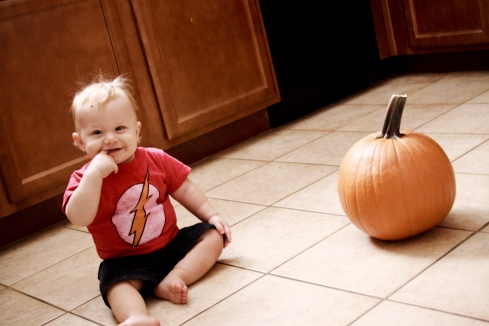 Cruz and our pumpkin